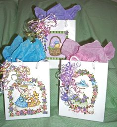 GIFT BAGSEaster Bunnies-Small by acraftingheart on Etsy