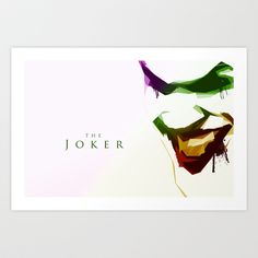 The Joker Art Print by Chad Madden - $15.00