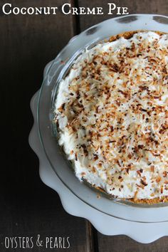 Coconut Creme Pie   Oysters & Pearls