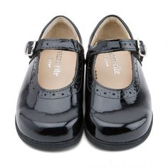Fran Girls Start Rite Black Patent Lace School Shoes