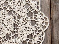 Light Yellow Crochet Doily vintage doily #katrinshinesupplies  #etsy #handmade  #crochet #upcycled #doily #giftidea #crochet_doily #home_decor