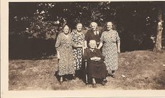 Jollett Sisters Laura Sullivan, Victoria Breeden, Sallie Clift, Mary Frances Davis, Emma Coleman (after 1936 since Leanna Knight is not in the picture)