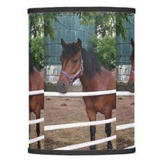 Horse Me at the Farm Lamp Shade - horse animal horses riding freedom