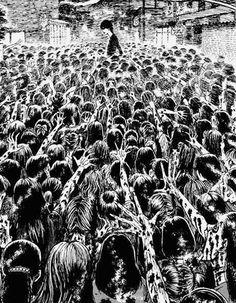 Junji ito - lovesick dead junji ito junji ito, manga art и japanese horror. Aesthetic Drawing, Aesthetic Art, Aesthetic Anime, Junji Ito, Arte Horror, Horror Art, Manga Art, Manga Anime, Japanese Horror
