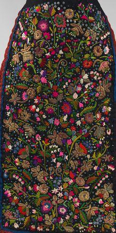 Apron Date: fourth quarter 19th century Culture: Hungarian Medium: silk, metal, linen, glass