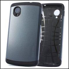 Matte Grey Tough Armor Back Case for LG Google Nexus 5 – http://www.bracevor.in/collections/lg