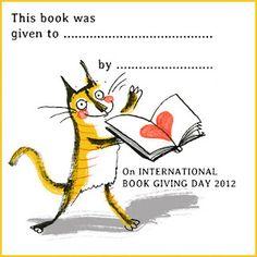 International Book Giving Day bookplate - Viv Schwarz