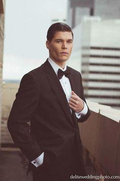 Suave groom style for a formal black tie wedding @myweddingdotcom