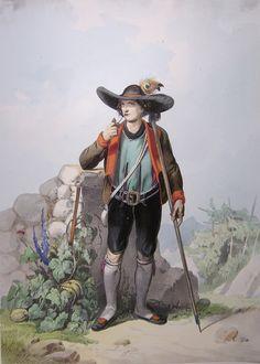 Tracht Lithogrpahie Meraner - Klederdracht - Wikipedia