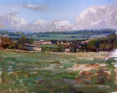 ARTFINDER: Landscape in Haute-Provence by Pascal Giroud - An outdoor paint near Ribiers in Haute-Provence for a short session.