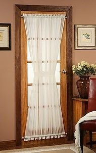 Batiste Sheer French Door Curtain Panel with Tieback by Stylemaster®   eBay
