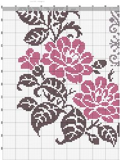 This Pin was discovered by Δαφ Cross Stitch Alphabet Patterns, Cross Stitch Borders, Cross Stitch Rose, Cross Stitch Flowers, Cross Stitch Designs, Cross Stitching, Cross Stitch Embroidery, Crochet Basket Pattern, Tapestry Crochet