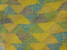 Tapestry by Silvia Heyden. A detail of her triangles.