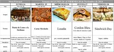 Menú Principal del 24 al 28 de Noviembre de 2014