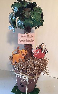 The Lion king centerpieces Baby Shower decoration by YndiraArtz