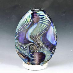alexbeads Mmm...Purple Lampwork Focal Bead (1) SRA