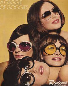 February 1968. 'A gaggle of goggles.'