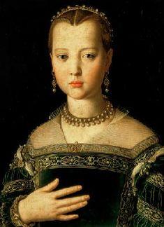Bronzino, Agnolo : Portrait of Maria de' Medi...