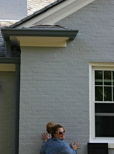 Sherwin Williams ONLINE paint at 125 A post full of ideas for exterior gray paint colors. picking the right exterior gray paint colors can be hard to do. View post for exterior gray paint Best Exterior House Paint, Exterior Gray Paint, Exterior House Colors, Brick Exterior Makeover, Grey Brick Houses, Brick Ranch Houses, Painted Brick Ranch, Painted Brick Exteriors, Painted Brick Homes
