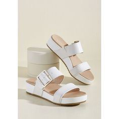 On My Buckle List Sandal in Ivory in 11 - Flat - by Dr. Scholl's from ModCloth Ivory Sandals, Dressy Sandals, Cute Sandals, Cute Shoes, Shoes Sandals, Ivory Shoes, Beaded Sandals, Flats, Women Sandals