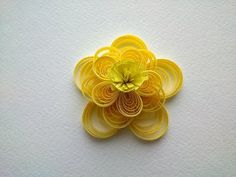 Quilling Flowers Tutorial: make a yellow beautiful Quilling flower. Paper art Quilling. - YouTube