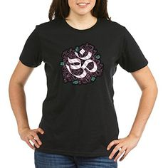 Truly Teague Organic Womens TShirt Drk Hindu Om Omkara Aum Meditation Symbol  Black XL ** Find out more about the great product at the image link.