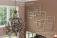 Two Story Wall wall design. Mirrored Squares by C'VION Interior Design Photos, Great Rooms, Wall Design, Squares, Chandelier, Ceiling Lights, Mirror, Home Decor, Candelabra