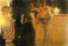 Schubert at the piano (1899), destroyed by fire in 1945, Gustav Klimt