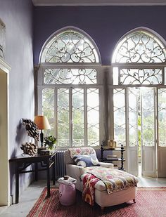 Oh I would love to have these windows in the Turrets!! Simon Watson / Interiors / May Daouk Beirut AD-DG