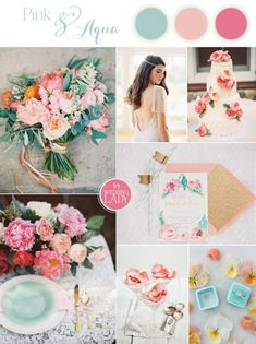Sophisticated Pastel Wedding in Pink, Peach and Aqua wedding colors september / fall color wedding ideas / color schemes wedding summer / wedding in september / wedding fall colors Pastel Wedding Theme, Wedding Color Pallet, Summer Wedding Colors, Wedding Color Schemes, Wedding Themes, Wedding Decorations, Pastel Weddings, Wedding Ideas, Spring Weddings