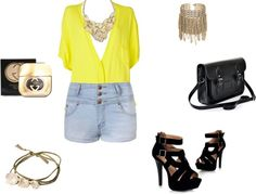 """""""yellow"""" by lola-london ❤ liked on Polyvore"""