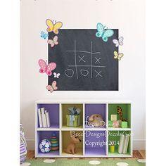 9 Butterflies Chalkboard Vinyl Wall Decal