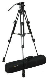 "Fancierstudio Professional Video Camera Tripod FC-270 Pro Video Camera Tripod with Fluid Head By Fancierstudio FC-270 by fancierstudio. $139.99. Large quick release plate for better handling of DV camcorders Safety locking pin prevents camera from sliding off Quick release plate accepts 1/4"" and 3/8"" threads Fluid damping system ensures smooth pan and tilt camera movements Built-in bubble spirit level for accurate horizontal level setting Versatile -65°to +90°tilt range, 360"