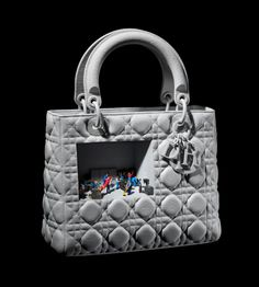 Lady Dior as seen by Nicolas Milhe Miss Dior, Little Bag, Carrie Bradshaw, Lady Dior, Baby Accessories, Costume Design, Christian Dior, Fashion Art, Leather Bag
