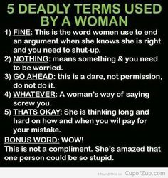 A Guide to Women: What They Say Vs. What They Really Mean 0