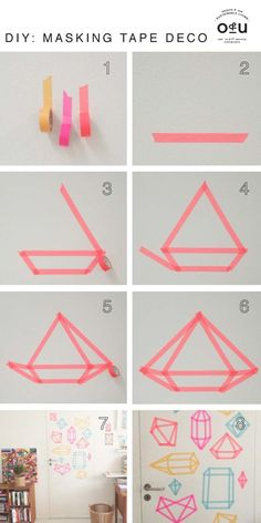 DIY Dorm Room Decor Ideas - Masking Tape Deco - Cheap DIY Dorm Decor Projects for College Rooms - Cool Crafts, Wall Art, Easy Organization for Girls - Fun DYI Tutorials for Teens and College Students http://diyprojectsforteens.com/diy-dorm-room-decor