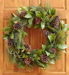 Pinecone and Magnolia Leaf Wreath