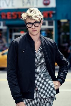 Lucky Blue Smith : LUCKS IN GLASSES THO