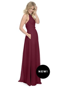 Shop Dove & Dahlia Bridesmaid Dress - Diana in Poly Chiffon at Weddington…