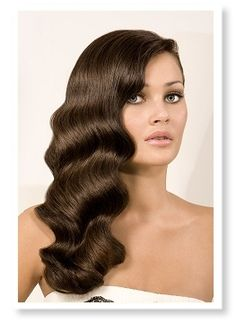 I love these finger curls since it would give a beautiful old Hollywood glamour to hair.