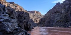After backpacking 17 miles into the depths of Grand Canyon and another 6 miles down a tributary, we found this veiw of the Colorado River.