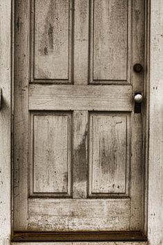 Sepia Art Print   Old Church Door.