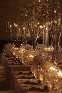 Winter Wonderland Wedding Diner... if I get married in the winter...