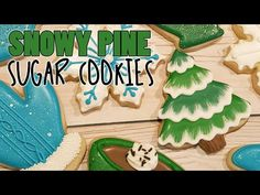 Cake Decorating Piping, Cookie Decorating, Decorating Ideas, Tree Cookies, Sugar Cookies, Christmas Treats, Christmas Cookies, Christmas Stuff, Brush Embroidery