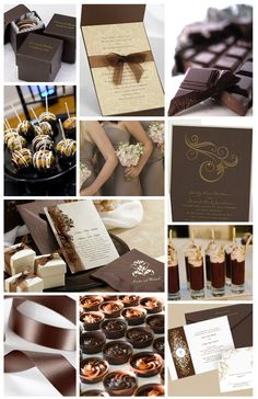 Love chocolate? Incorporate that flavor into your wedding with rich brown shades, soft creamy ivory tones, and of course - chocolate desserts!