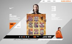 Nike - Bloed Oranje by Momkai , via Behance