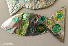 OkulÖncesi Folyo ile Balık Çalışması | OkulÖncesi Sanat ve Fen Etkinlikleri Paylaşım Sitesi