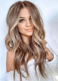 Brunette to blonde balayage using babylights in 2019 Brown Hair With Highlights, Brown Hair Colors, Color Highlights, Women's Hair Colors, Carmel Brown Hair, Sandy Brown Hair, Caramel Highlights, Blonde Highlights, Hair Color Balayage
