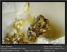 Beudantite,  PbFe+++3(AsO4)(SO4)(OH)6 , Les Montmins, Allier, France. Fov 0.65 mm
