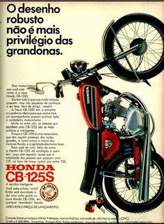 Anúncio moto Honda CB-125 S - 1973